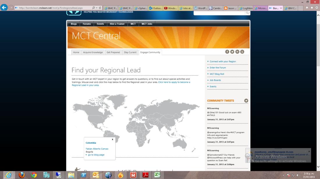 Convocatoria: Todos los MCT de Colombia.